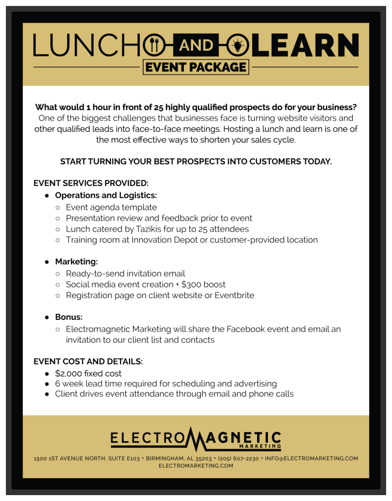 """Lunch and Learn Event Package"" Web Download 